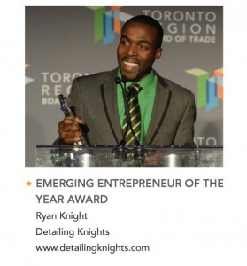 Ryan Knight Business Excellence Award winner gta auto