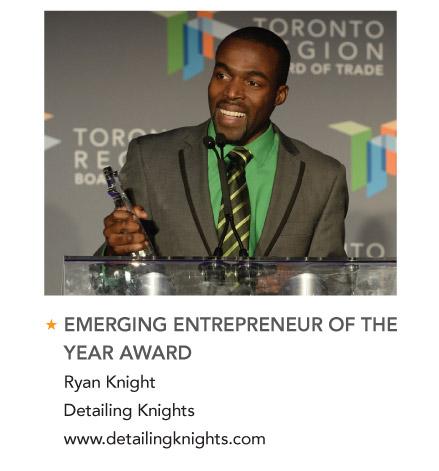 Ryan Knight Business Excellence Award winner gta auto